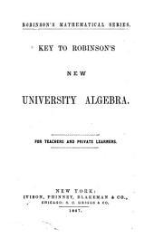 Key to Robinson's New University Algebra