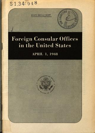 Foreign Consular Offices in the United States PDF