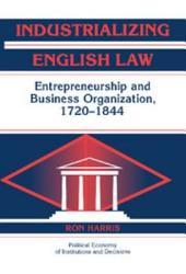 Industrializing English Law Book PDF