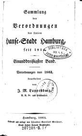 Sammlung der Verordnungen der freyen Hanse-Stadt Hamburg ...: Band 31
