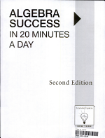 Algebra Success in 20 Minutes a Day PDF