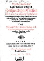 Christliche Leichpredig bey der Besingnuß weyl. Fürsten Ernesti Bischoff zu Bamberg
