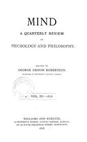 MIND A QUARTERLY REVIEW OF PHYSCHOLOGY AND PHILOSOPHY