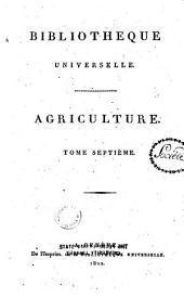 Bibliothèque universelle des sciences, belles-lettres et arts: Volume7