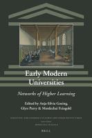 Early Modern Universities PDF
