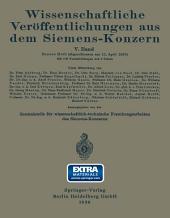 Wissenschaftliche Veröffentlichungen aus dem Siemens-Konzern: Fünfter Band 1926–1927