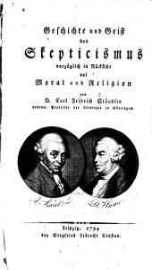 Geschichte und Geist des Skepticismus