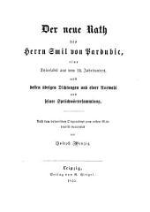 Der neue Rath des Herrn Smil von Pardubic: eine Thierfabel aus dem 14. Jahrhundert, nebst dess übrigen Dichtungen und einer Auswahl aus seiner Sprüch-wörtersammlung