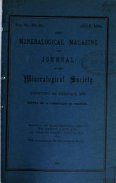 The Mineralogical Magazine and Journal of the Mineralogical Society: Volume 6, Issues 27-31