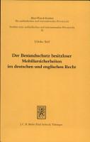 Der Bestandsschutz besitzloser Mobiliarsicherheiten im deutschen und englischen Recht PDF
