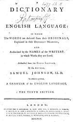 A Dictionary Of The English Language Abstracted From The Folio Edition The Tenth Edition Book PDF