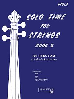 Solo Time for Strings  Book 2 Book