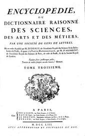 Encyclopédie Ou Dictionnaire Raisonné Des Sciences, Des Arts Et Des Métiers: Ch - Cons. 3