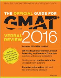 The Official Guide For Gmat Verbal Review 2016 With Online Question Bank And Exclusive Video Book PDF
