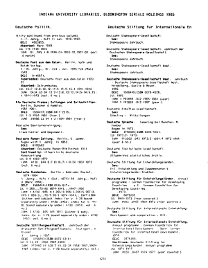 Indiana University Libraries  Bloomington Serials Holdings  1985 PDF