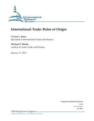 International Trade  Rules of Origin PDF