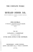 The Complete Works of Richard Sibbes     PDF