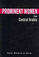 Prominent Women from Central Arabia PDF