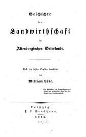 Geschichte der Landwirthschaft im Altenburgischen Osterlande