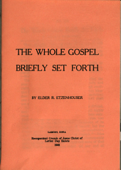 The Whole Gospel Briefly Set Forth