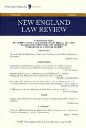 New England Law Review: Volume 50, Number 1 - Fall 2015