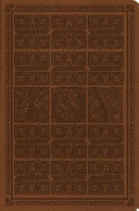 ESV Value Compact Bible  Trutone  Brown  Joy Woodcut Design
