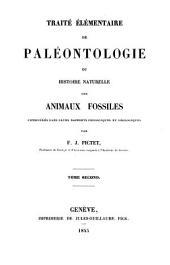 Traité élémentaire de paléontologie ou histoire naturelle des animaux fossiles: Avec 20 pl, Volume2