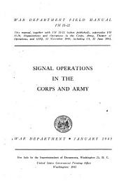 Signal Operations in the Corps and Army