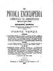 La piccola enciclopedia commerciale ed amministrativa opera in tre parti o volumi di Giuseppe Tempia: Volume 3