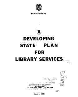 A Developing State Plan for Library Services PDF