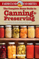 The Complete Home Guide to Canning   Preserving