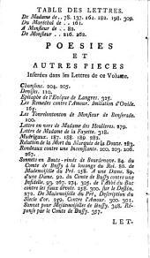 Lettres de Messire Roger de Rabutin, comte de Bussy ...: avec les reponses, Volume1