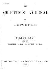 Solicitors' Journal and Reporter: Volume 26