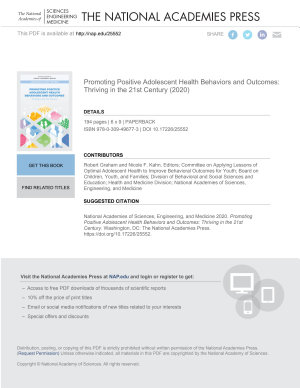 Promoting Positive Adolescent Health Behaviors and Outcomes