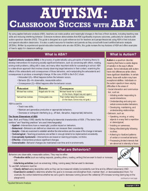 Autism  Classroom Success with ABA