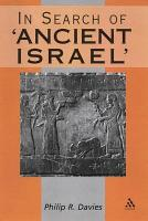 In Search of  Ancient Israel  PDF