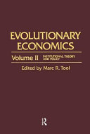 Evolutionary Economics: Institutional theory and policy
