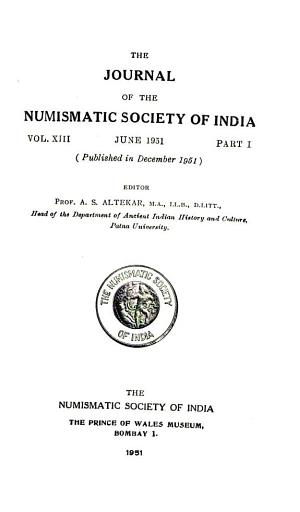 The Journal of the Numismatic Society of India