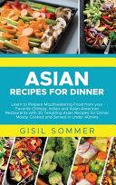 Asian Recipes for Dinner