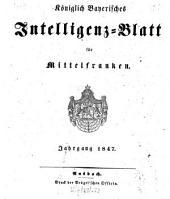 Königlich Bayerisches Intelligenzblatt für Mittelfranken: 1847