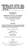 Comprehensive Health Insurance Legislation  Including H R  3205  the  Health Insurance Coverage and Cost Containment Act of 1991  PDF