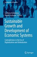 Sustainable Growth and Development of Economic Systems PDF