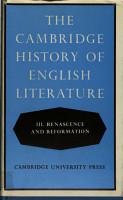 Cambridge History of English Literature 3 PDF