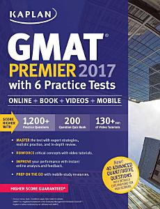 GMAT Premier 2017 with 6 Practice Tests Book