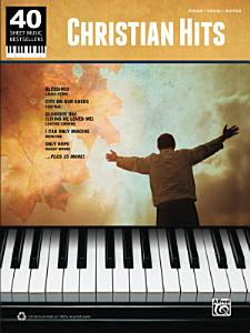 40 Sheet Music Bestsellers   Christian Hits Book