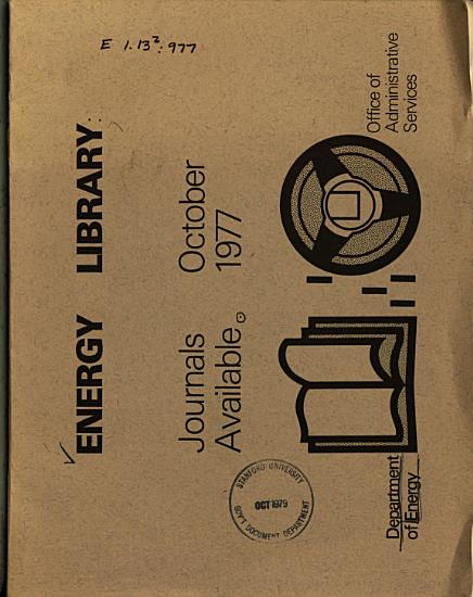 Energy Library  Journals Available PDF