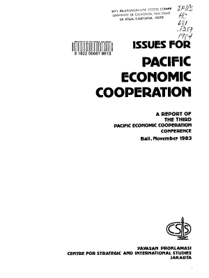 Issues for Pacific Economic Cooperation