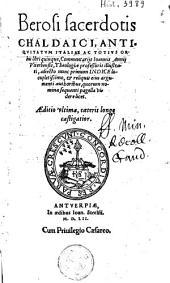 Berosi ... Antiquitatum Italiae ac totius orbis libri quinque