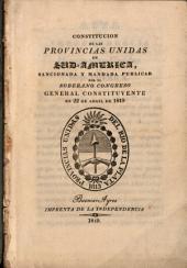 Constitucion de las Provincias Unidas en Sud-America
