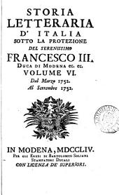 Storia letteraria d'Italia: Volume 6